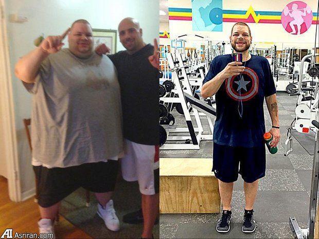 مردی پس از 180 کیلو کاهش وزن (+عکس)