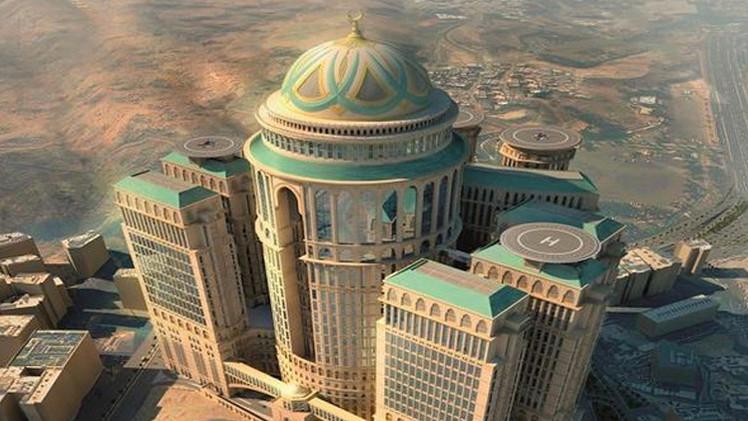 برنامه ساخت بزرگترین هتل جهان در مکه (عکس)
