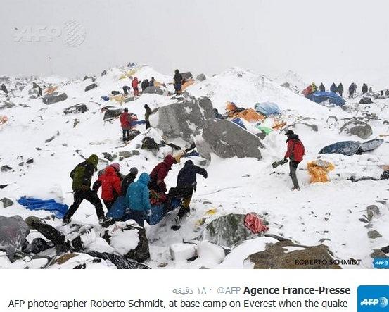 کمپ اصلی اورست بعد از زلزله (عکس)