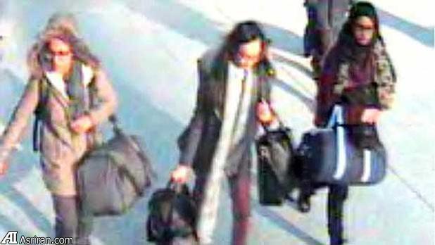 سرویس خدمات دولتی داعش به سه دختر نوجوان انگلیسی (+عکس)
