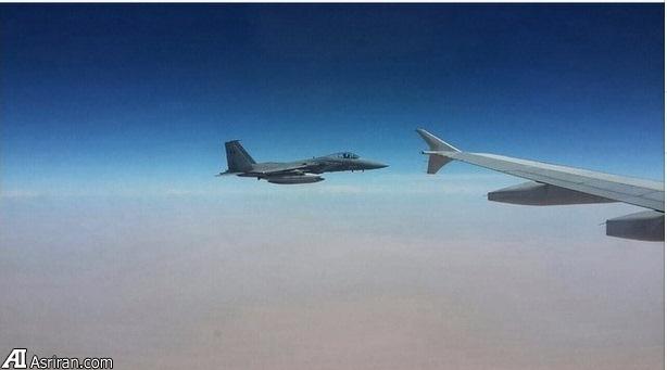 جنگنده سعودی بال به بال هواپیمای ایرانی بر فراز یمن (عکس)
