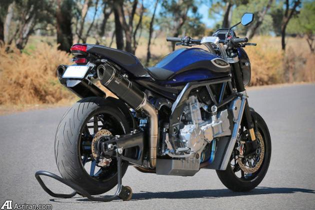 موتورسیکلت PGM؛ نیروی هشت سیلندر روی دو چرخ!