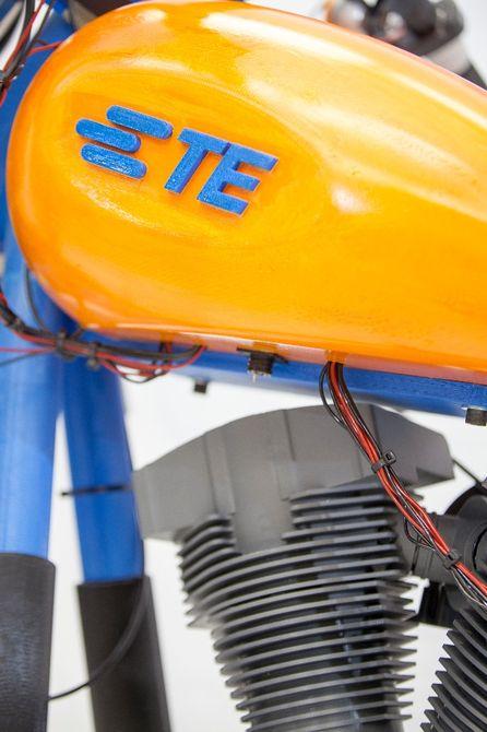 نمایش اولین موتورسیکلت پرینت شده واقعی