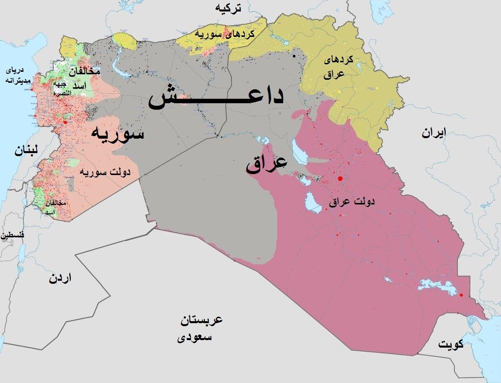 داعش نصف سوریه را گرفت/ همه گذرگاه های مرزی سوریه و عراق در دست داعش (+نقشه)