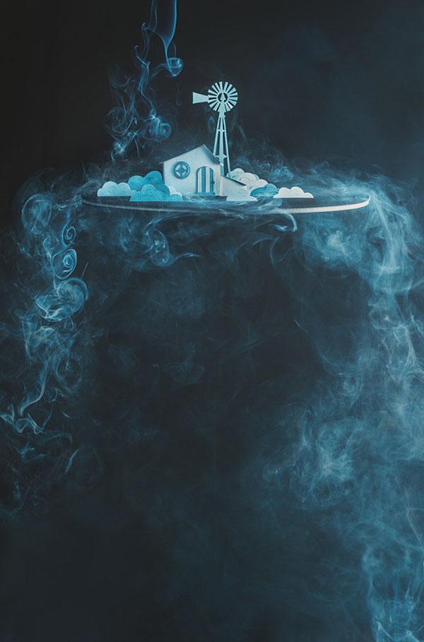 آموزش عکاسی از دود به شکل آبشاری