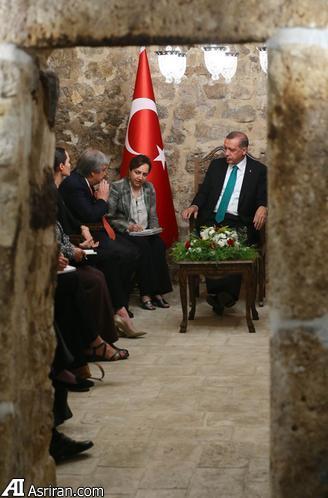 دیدار آنجلینا جولی با اردوغان (+عکس)