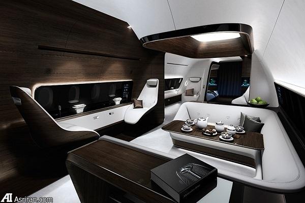 طراحی داخلی لوکس مرسدس بنز برای جت خصوصی لوفتهانزا