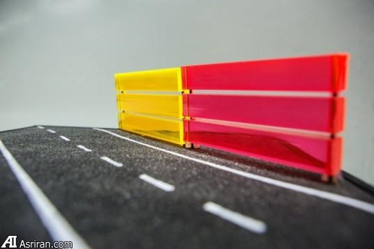 کاهش آلودگی صوتی و تولید انرژی پاک با موانع رنگی