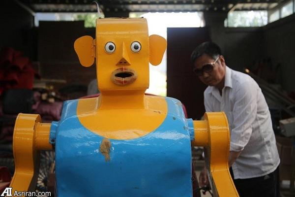 کشاورز کم سوادی که ربات می سازد!