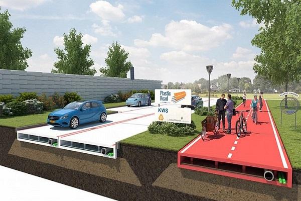 ساخت جادههای پلاستیکی در هلند