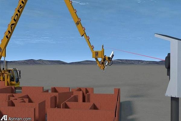 ربات آجرچینی که در دو روز یک خانه می سازد!