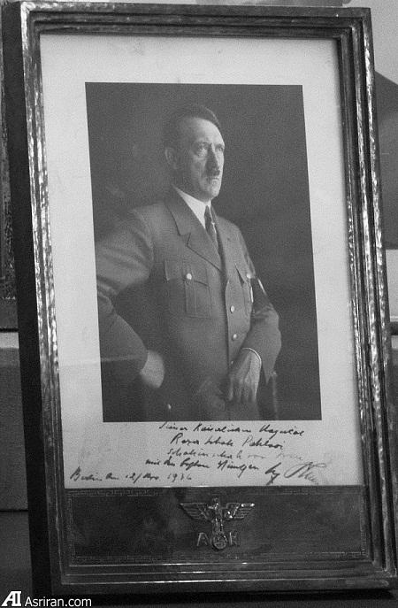 یادگاری «هیتلر» به «رضا شاه» (عکس)