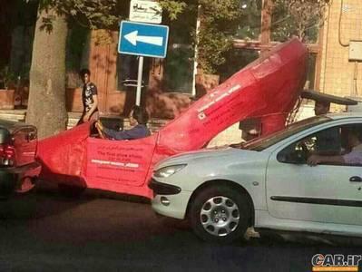 خودروی پاشنه بلند در تهران (عکس)