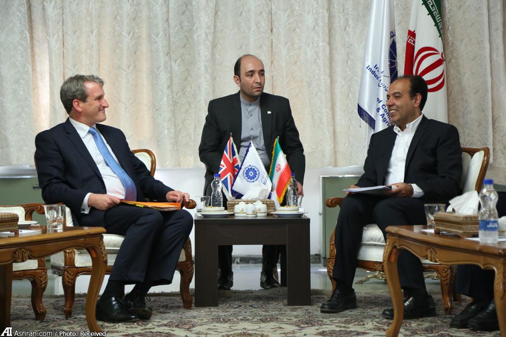 دیدار وزیر خزانهداری انگلیس با رییس اتاق ایران