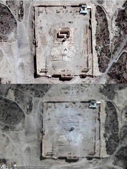 تصویر ماهواره ای از جنایت داعش (+عکس)