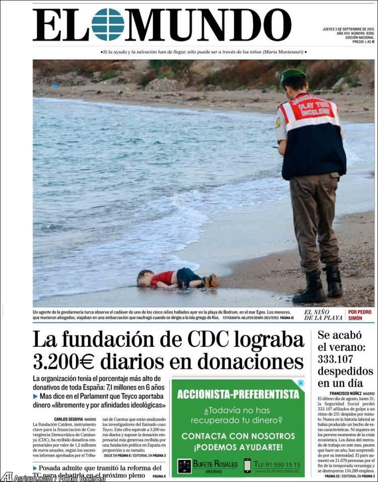 تصویر کودک 3 ساله سوری جهان را تکان داد (+عکس)