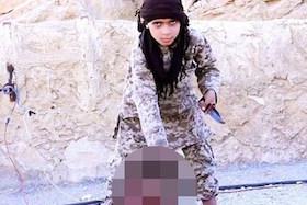 عامل وحشیگری کودکان جلاد داعش!