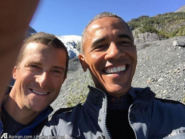 اوباما پس مانده غذای خرس ها را خورد (+عکس)