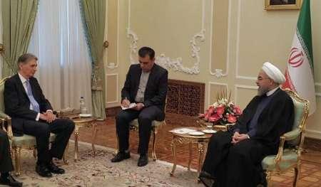 دیدار وزیر خارجه انگلیس با رییس جمهور
