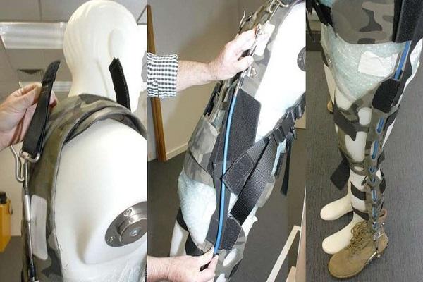 طراحی اسکلتخارجی برای سبککردن بار سربازان