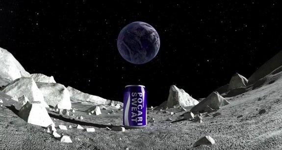 نخستین بیلبورد تبلیغاتی بر روی قمر زمین