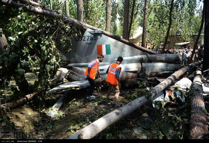 سقوط هواپیمای میگ 21 هند در کشمیر