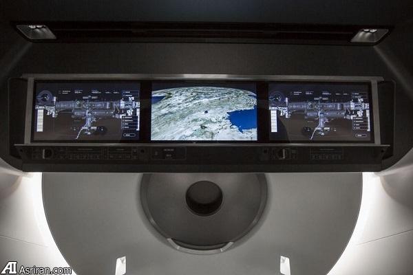انتشار تصاویری از داخل فضاپیمای سرنشیندار اسپیساکس