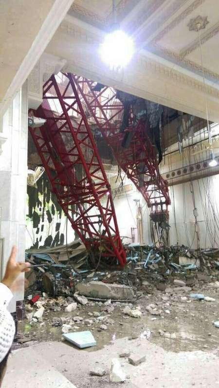 87 کشته و 184 زخمی در سقوط جرثقیل در خانه خدا (+عکس) /20 ایرانی در میان زخمی ها / خبر غیر رسمی از کشته شدن یک ایرانی