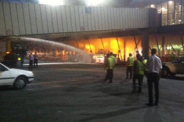 آتش گرفتن خودروی حملکننده هواپیما در مهرآباد
