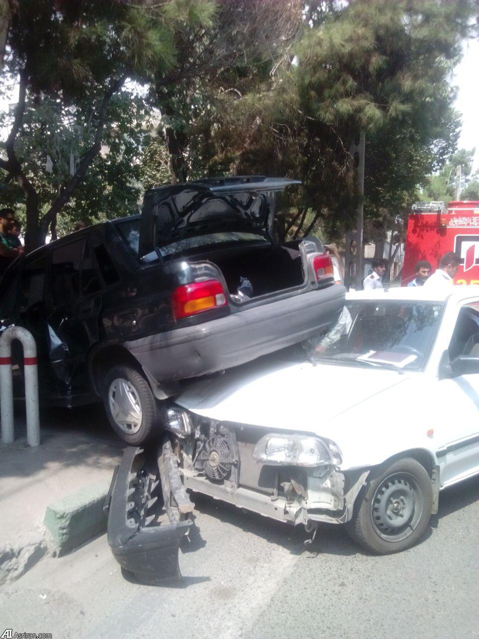 حوادث تهران تصادف پراید اخبار تهران اخبار تصادف