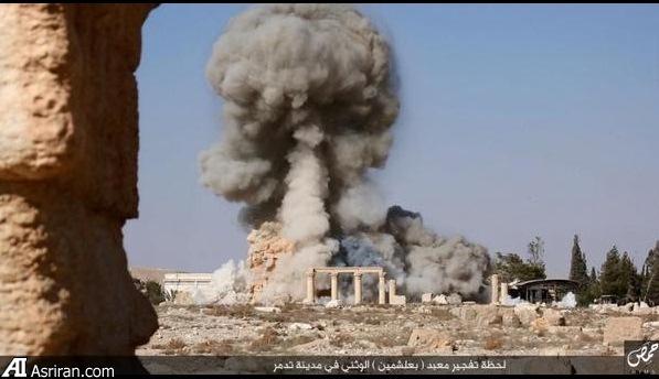 لحظه انفجار آثار تاریخی پالمیرا (عکس)