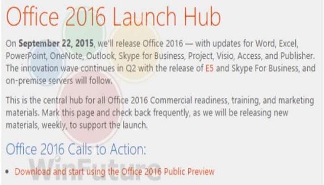 اطلاعات جدیدی از تاریخ انتشار Office 2016