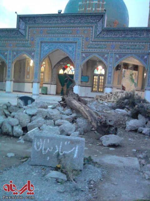 تخریب سنگ قبر یک خواننده در کرج (عکس)