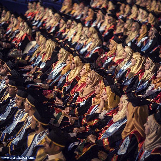 جشن فارغ التحصیلی 300 دانشجوی غزه (عکس)