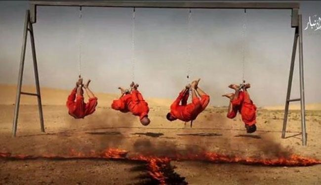 496209 962 داعش ۴ عراقی را آتش زد (+عکس)