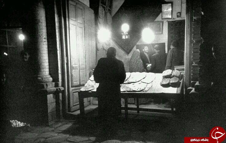 نانوایی تافتونی در تهران، دهه 30 (عکس)