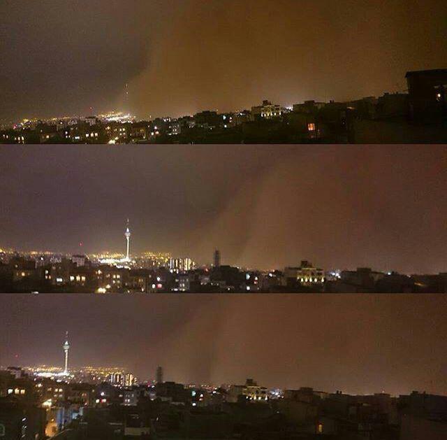 طوفان تهران لحظاتی قبل (عکس)