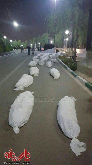اقدام عجیب شهرداری تهران: قرار دادن دهها ماکت مرده کفن پوش در پارک نهج البلاغه!