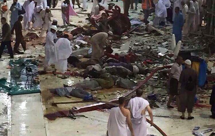 سقوط جرثقیل در مکه