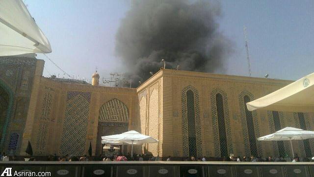 آتش سوزی در  حرم   امام   علی  (عکس)