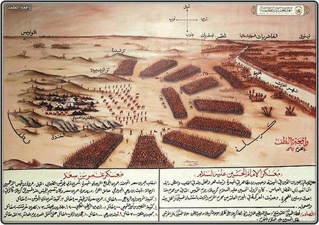 آرایش یاران امام حسین و سپاه یزید (+عکس)