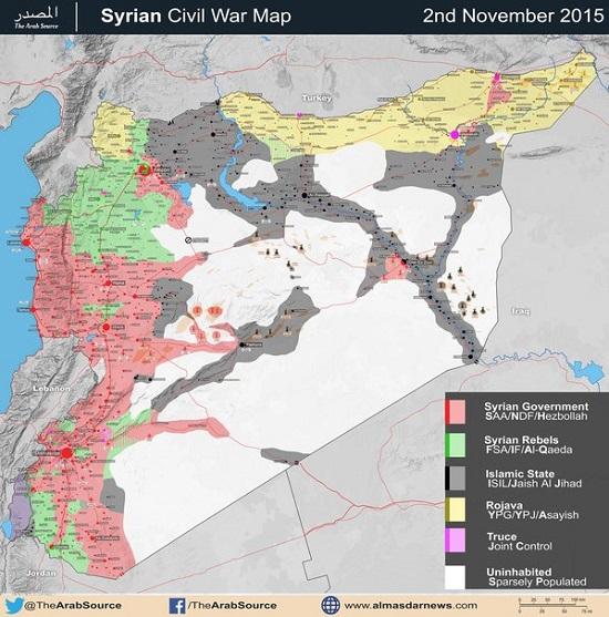 چه مقدار از خاک سوریه تحت کنترل نیروهای دولتی است؟ (+ نقشه)