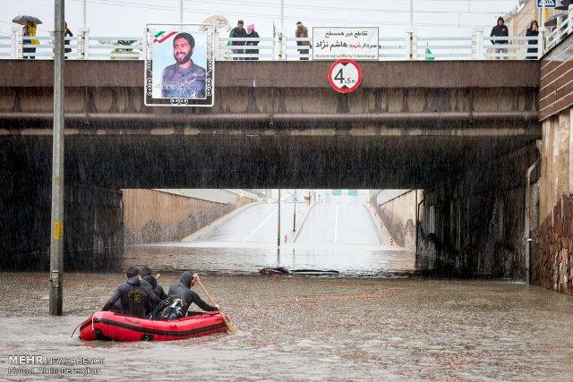 عکس سیل حوادث شیراز اخبار شیراز