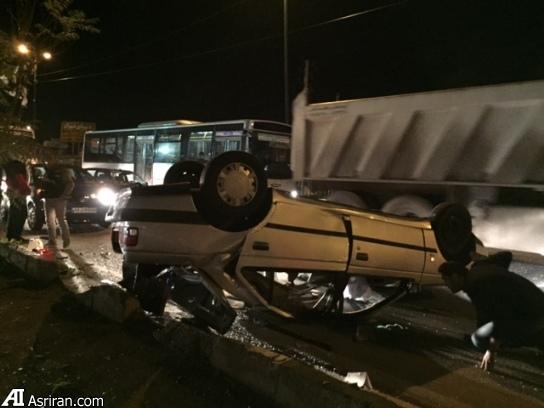 حوادث تهران تصادف پژو اخبار تهران اخبار تصادق