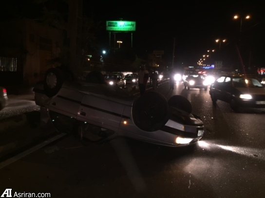 تصادف سنگین ّپژو 405 در خیابان دماوند تهران (عکس)