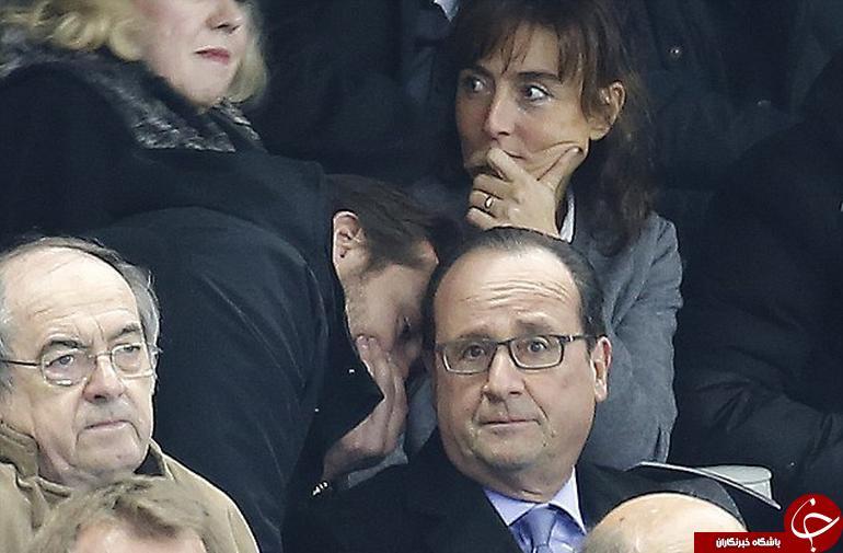 لحظه با خبر شدن رئیس جمهور فرانسه از حادثه (+ عکس)