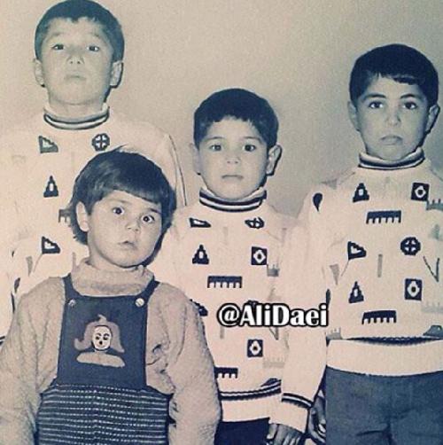 وقتی علی دایی بچه بود! (+ عکس)