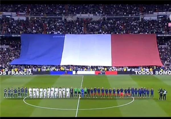 نصب پرچم فرانسه در بازی بارسلونا و رئال مادرید (+ عکس)