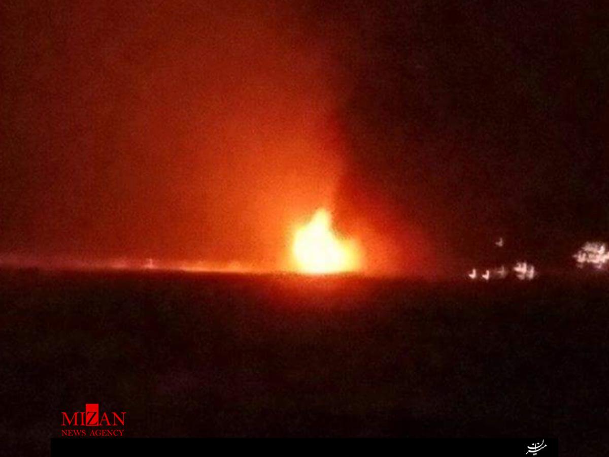 آتش سوزی مهیب در یکی از سکوهای نفتی دریای خزر/ 32 کشته