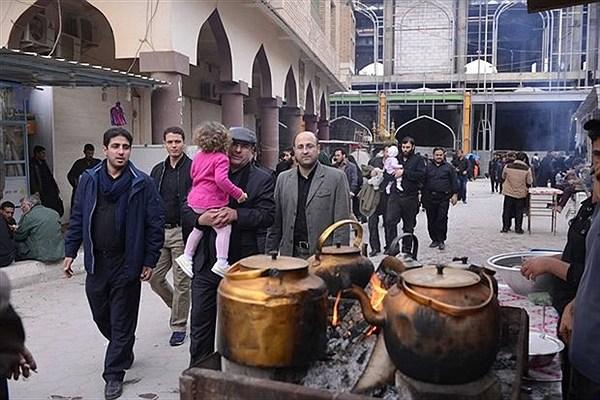 قالیباف، پسر و دو نوهاش در خیابانهای نجف